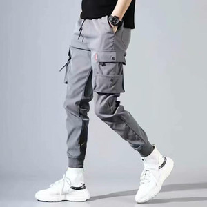 Hip Hop Men Pantalones Hombre High Street Kpop Casual Cargo Pants Many Pockets Joggers Modis Streetwear Trousers Harajuku For Men