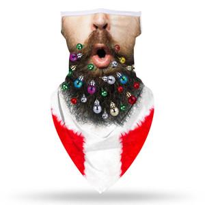 Máscara de Chirstmas careta del pañuelo facial deportes al aire libre Bandana mask regalos mágico Pañuelo de cabeza diadema visera cuello polaina de decoración de Navidad