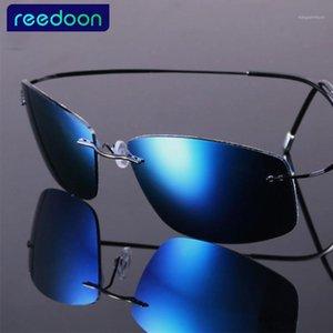 2020 Новая мода Ульсильнькая без огранки Титановые поляризованные солнцезащитные очки мужские вождения бренда дизайн солнцезащитные очки1
