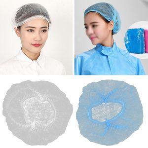 100PCS Non-woven Disposable Shower Caps Dust Hat Women Men Bath Cap For Spa Beauty Salon Bathroom Bonnets Hotel Accessories Hair