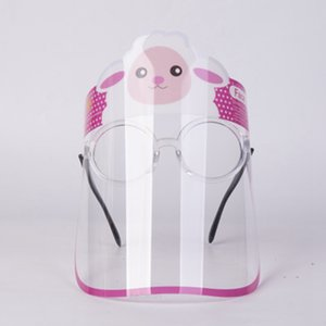 Children Full Face Shield Glass Kids Anti-Fog Clear Protection Mask Cartoon Full Facial Cover With Glass design masks LJJK24wes