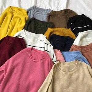 TYHRU Осень Женские Solid Color Basic с длинным рукавом Сыпучие Тонкие рукава свитер Трикотаж XEuO #