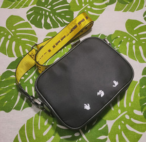33412 Бренд Mini Men Off Yellow Holvas Rew High White Bag Сумка Камера Сумка Талия Сумки Многоцветный Дорожный Сумка Сумка Женщины