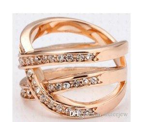 Rings Beautifully Rose Gold Bands Dress 18K Gold Diamond Engagement Silver Rings Fashion Masonic Diamond Rings