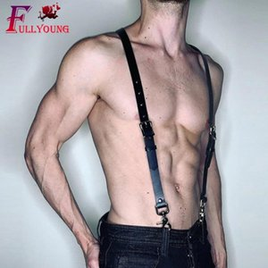 Fullyoung Leather Harness Sexy Erotico Punk Body Bondage Pu Bondage Gay Punk Leather Harness Sexy Shoulder Strap Clubwear Belt