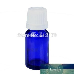 30pcs 10ML Blue Glass bottles, Essential Oil Bottle White screw Tamper Proof cap Juice Serum container 10CC small Sample Vial