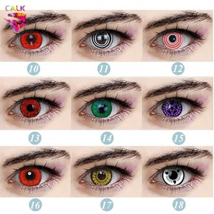 1Pair 2Pcs Cosplay Beautiful Pupil Eye Color Contact Lenses a Variety of Styles Crazy Halloween Cartoon Girl Funny Decoration