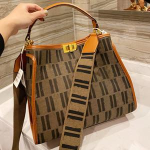 قماش حمل حقيبة سعة كبيرة حزمة النساء موضة إلكتروني كامل حقيبة محفظة حقيبة الكتف خليط اللون حقيبة تسوق حقيبة تويست قفل