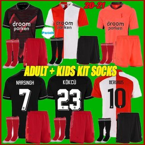 Kit adulte + enfants 20 21 Feyenoord Soccer Jerseys 2020 2021 Accueil V.Persie Berghuis Chemise de football Vilhena