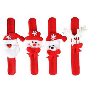 Christmas Slap Bracelets LED Flashing Lights Santa Christmas Wristband For Kids Chrismas Party Gift Decoration