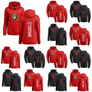 Ottawa Сенаторы пуловер Hoodie 7 Brady Ткачук 36 Colin White 39 Andreas Энглунд 81 Рон Хайнси Хоккей Толстовки на заказ