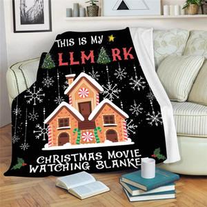 Рождественское Одеяло 130 * 150 см Рождественский дизайн Цифровое печать Одеяло Коралл Флис Однослойный Одиночный Усилитель С Рождественским Диван бросить одеяло HWC1966