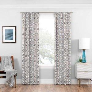 Moderno geométrico aislado de cortinas con aislamiento de paneles patrón geométrico habitación oscurecimiento ventana ventana cortina