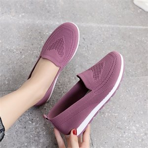 Women Summer Sneakers Slip on Flat Shoes Women's Casual Loafers Walking Shoes Female Outdoor Mesh Soft Bottom Sports Shoes