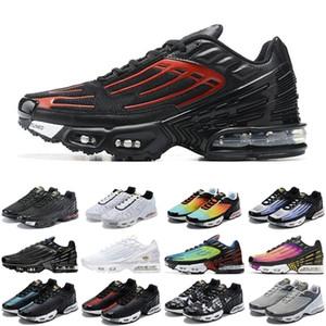2020 TN Artı 3 Erkek Kadın Spor Ayakkabı Üçlü Beyaz Siyah Yanardöner Paraşüt Paketi Örümcek Erkek Eğitmenler Spor Sneakers Koşucular