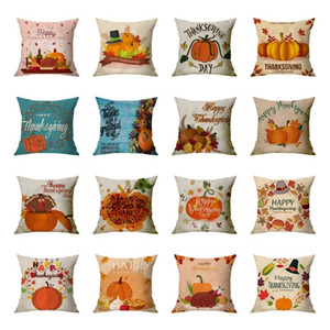 new Thanksgiving pillowcase sofa linen pumpkin cushion cover pillow case party decoration Pillowcase 26style T2I51557