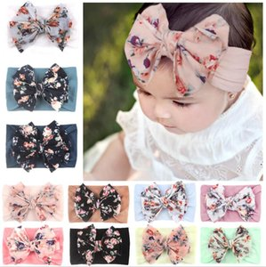 Baby Headbands Children Printing Flower Elastic Headbands Bohemian Head Wrap Wrap Girls Children Pein Accessories 14colors GWC5842