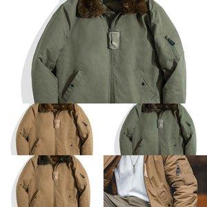 Maden Winter B15 Giacche da uomo American Retro Bomber Air Force Bomber Giacca Cappotto Cappotto Imbarcato Collare in pile Collare in pile Abbigliamento da uomo Q1221