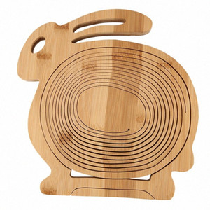 Multifunction Heat Resistant Non Slip Bamboo Trivets Pot Mat Hot Pan Pads Bamboo Folding Fruit Egg Bread Basket Collapsible Frui xbhh#