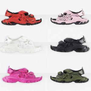 2021 Classics Designer Track Sandals Moda Scarpe Casual Shoes Pantofole Slittamento Verde Blue Shoe Uomo Donne Donne Donne Spessore Spiaggia in fondo con scatola