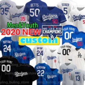 Dodgers 5 Corey Seager 50 Mookie Betts jersey de béisbol de Julio Urias Walker Buehler Cody Bellinger Los Angeles Justin Turner personalizada Hernández