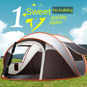 Outdoor Automatic Quickly Open Tent Tent 5 8 People Throwing Boat Camping Camping Water Resistant Portable 5TED#