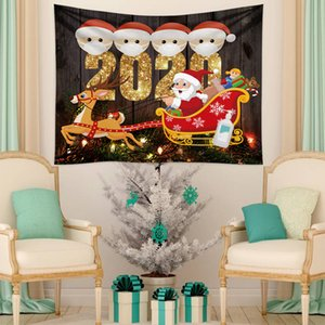 Quarantine Family Christmas Trees Tapestry Fabric blanket Yoga Wall Hanging Art Large Beach Towel Carpet Wall Rug Christmas Decor DDE2319