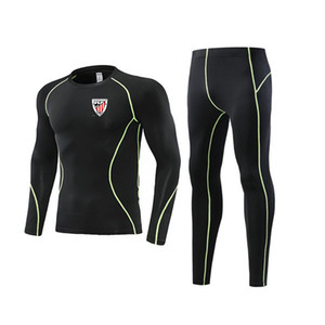 Newest Athletic Bilbao Tight Soccer Outdoor Tracksuits Kids Clothing Size22 Men's Athletic Sets Adult Football Warm Suit Size L