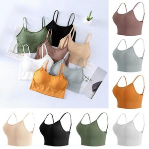 Seamless Sling Wrap Chest Streetwear Tank Tops Female Sleeveless Sports Sexys Tube Bra Basic Summer Camisole Tops Seamless M4R4