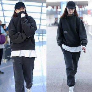 Hongkong Marke Song Yanfei Stern gleicher Stil BF Lose Mode Pullover Anzug Damen Netto Rot Ins Sportswear Herbst und Winter