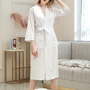 Женская спящая одежда 2021 Сплошная полная рукава женская махровая ткань халат турецкий хлопок кимоно воротник сексуальная ванна одежда лаундж фамаль 1