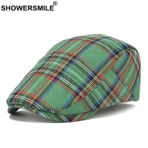 SHOWERSMILE Beret Hat British Style Flat Cap for Men Women Vintage Gatsby Newsboy Cap Spring Summer Driver Cabbie Hat 201113