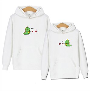 Harajuku Cartoon Dinosaur Print Hoodie Women Casual Long Sleeve Cute Couple Hoodies Sweatshirt Autumn Pullover Tracksuit Men