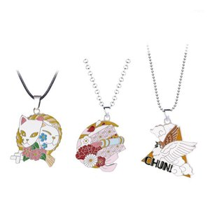 Kimetsu no Yaiba Necklace Demon Slayer Pendant Cat Metal Chain Choker Women Necklaces Charm Gifts Jewelry collares1