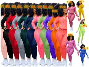 fall winter Women tracksuits 3XL 4XL jacket pants bigger size outfits 2 piece sets plain yoga outerwear leggings casual clothes 4432