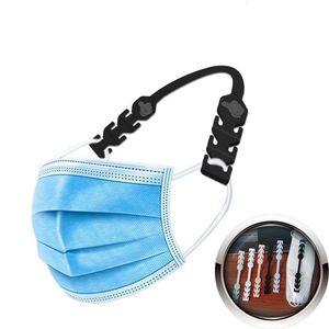 Reduzieren Ear Druckmaske Silikon-Mehrfarbenwiederverwendbare Haken Anzug Kind Erwachsene Dritter Gang Adjustable Gesichtsmasken Halter 0 3Rs L2