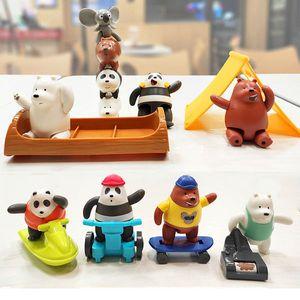 2021 McDonald's We desnudos Osos Tres osos Oso Polar Osos apilados Comida para niños Juguetes completos Muñecas