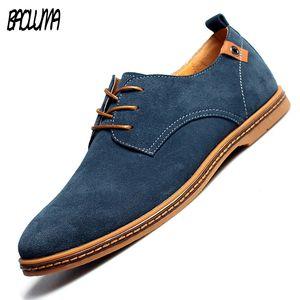 BAOLUMA 2020 Leather Shoes Flats Lace Fashion Casual New Spring Up Maschio Suede Oxford Uomini Zapatillas Hombre 38-48