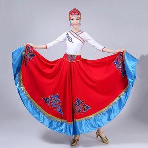 Chinese Folk Dance Costume Spanish Flamenco Skirt Hanfu Women Festival Outfit Performance Clothing Tribe Fairy Dress DCC538