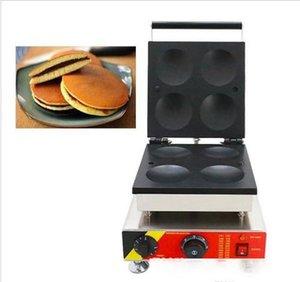 110v 220v Electric Japanese Dora s Dorayaki Machine 4pcs Waffle Pancake Maker Red Bean Paste Pie Snack Iron Equipment LLFA