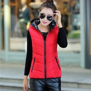 2019 Fashion Autumn Winter Down Cotton Vest Korean Version Two Sides Wearing Hooded Vest Casual Wild Coat Outerwear 26