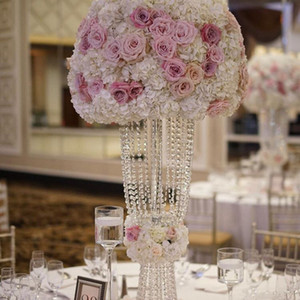 10 Pieces Marriage Crystal Centerpiece Wedding Flower Stand Chandelier Tabletop Decoration T table Decoration Centerpieces for event