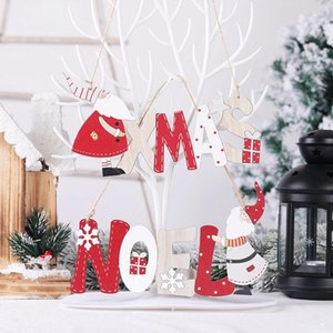 Christmas Hanging Sign Wooden Door Wall Hanging Ornaments Board Xmas Noel Christmas Wooden Pendant For Holidays Decor