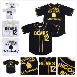 Dikişli Kötü Haberler Ayılar 12 Tanner Boyle Shirt 1976 Chico'nun Kefalet Tahvilleri Film Beyzbol Formaları Erkek
