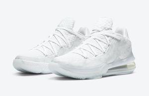LeBron 17 XVII Baixa EP Branco Camo Homens Mulheres Basquetebol Sapatos Venda Quente Com Caixa Melhor Lebron 17 Sapatos Esportivos Loja Atacado US7-US12