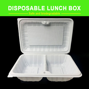 Biodegradable lunch box, disposable, food-grade PP material, healthy and environmentally friendly, 2 specifications are optional