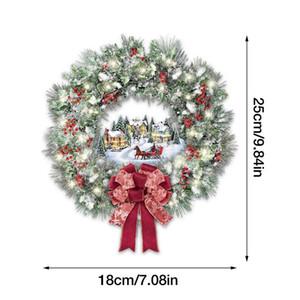 Christmas Wall Sticker Christmas Wreath Pattern Glass Showcase Window Door Background Xmass New Year Decoration Wall Sticker