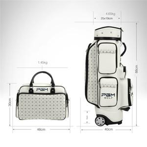 Pgm Golf Standard-Beutel PU-wasserdichte Golftaschen Multi-Purpose Aviation Pakete große Kapazitäts-Reisetaschen mit Rollen D0082