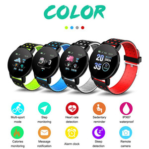 New 119 Plus Smart Bracelet Fitness Tracker ID119 Watch Heart Rate Watchband Smart Wristband 119Plus For Cellphones With Box Fitbit MI