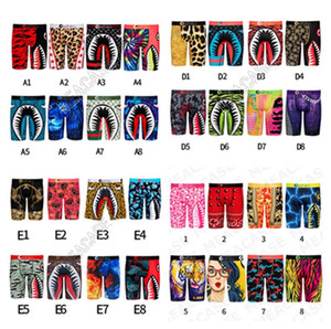 62 Designs Mens Boxer Shorts Quick Dry Dry Designers Biancheria intima Boxers Briefs Slip Bocca Squalo Sport Sport Beach Shorts Bagnati da bagno Batti da bagno F101903